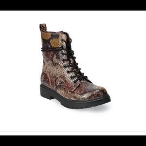 SO® Bowfin Women's Combat Boots Sizes 9.5